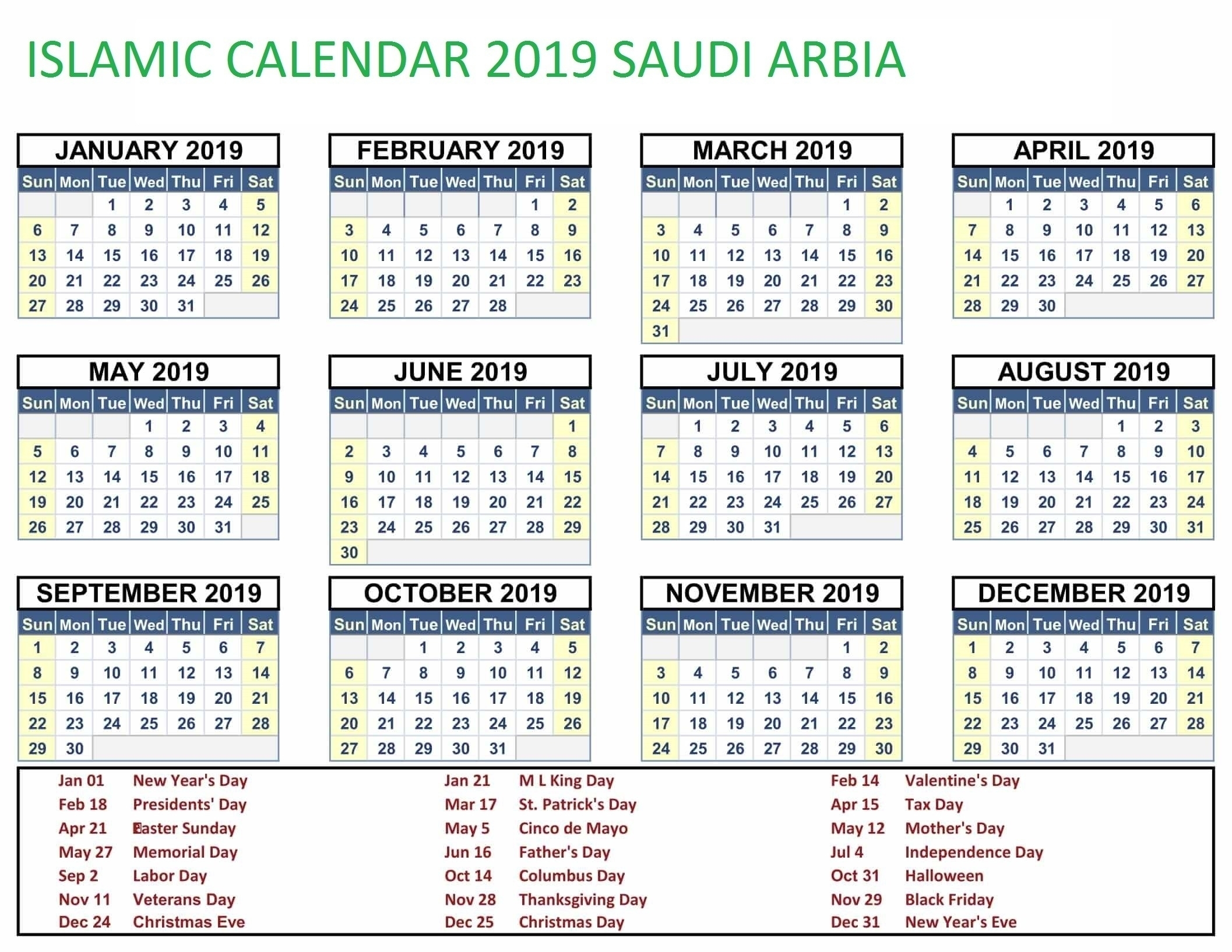 Saudi Islamic Month Kalendar Com | Template Calendar Printable regarding Islamic Calender In Saudi Arabia
