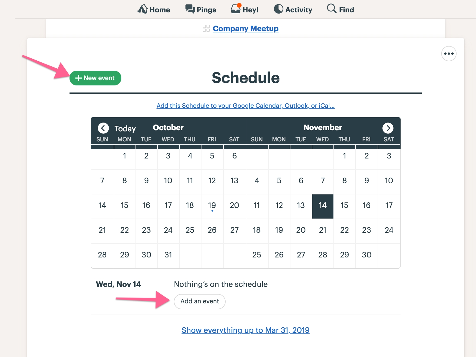 Schedule - Basecamp 3 Help regarding Daily Planner Pull From Outlook