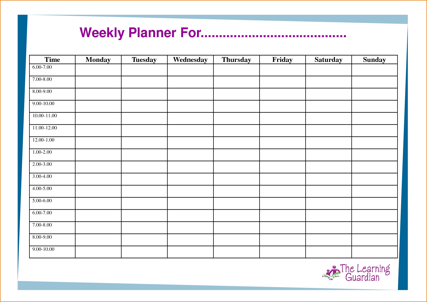 Schedule Template Daily Task Exceptional Week Planner Sample For with regard to 3 Week Task Planner Whiteboard
