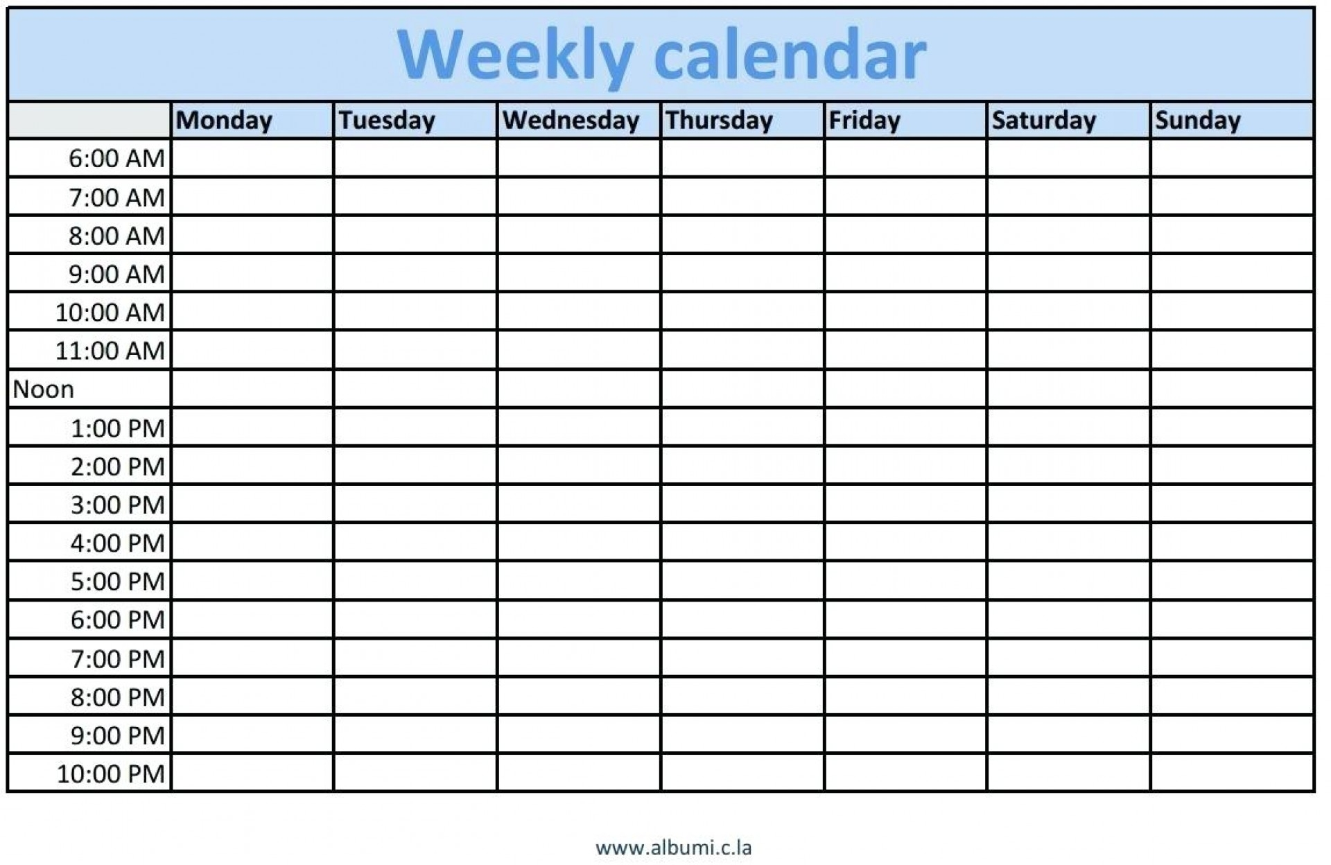 Schedule Template Daily Timetable Printable Time Templates Calendar intended for Blank 7-Day Calendar With Time