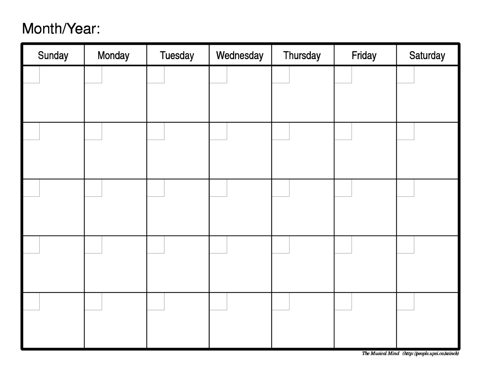 Schedule Template Free Blank Printable R Aaron The Artist Weekly within Empty Monthly Calendar Print Out