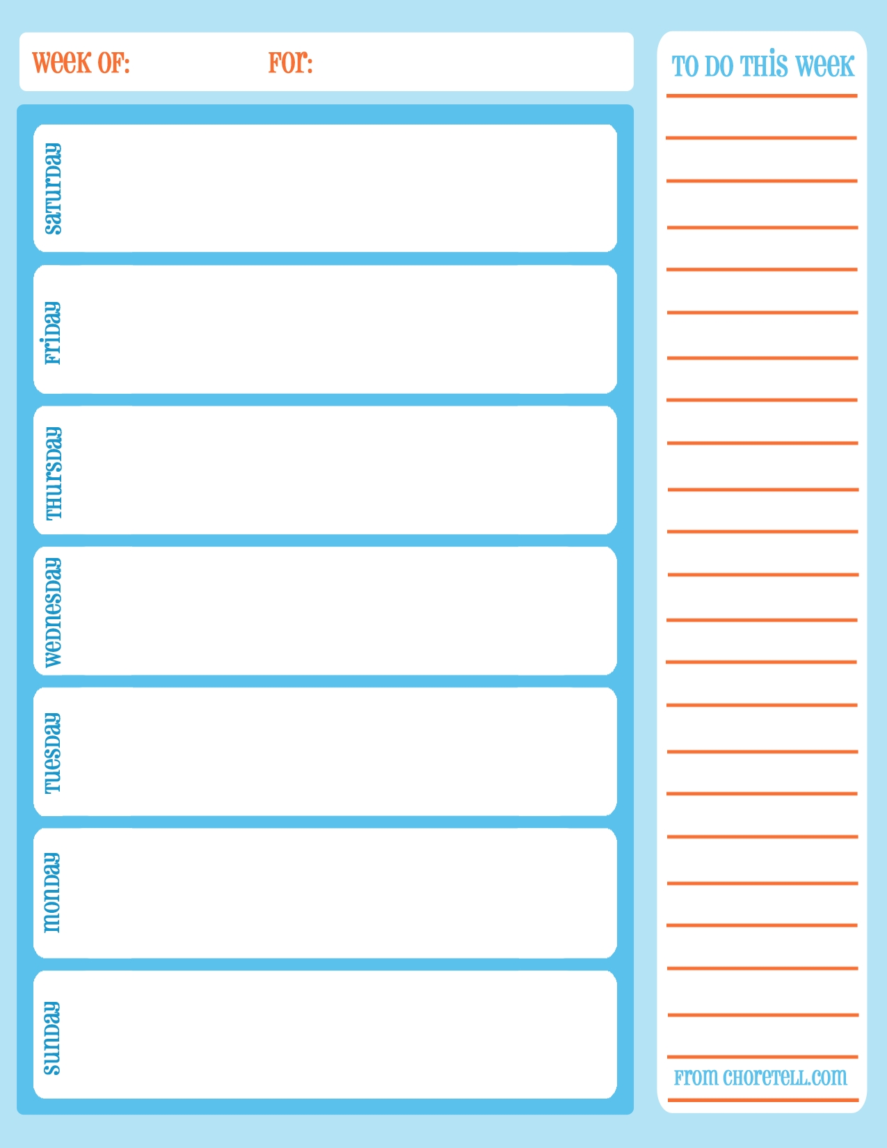 Schedule Template Free Printable Ekly With Times Daily Cleaning with Free Printable Daily To Do Checklist Monday Through Friday