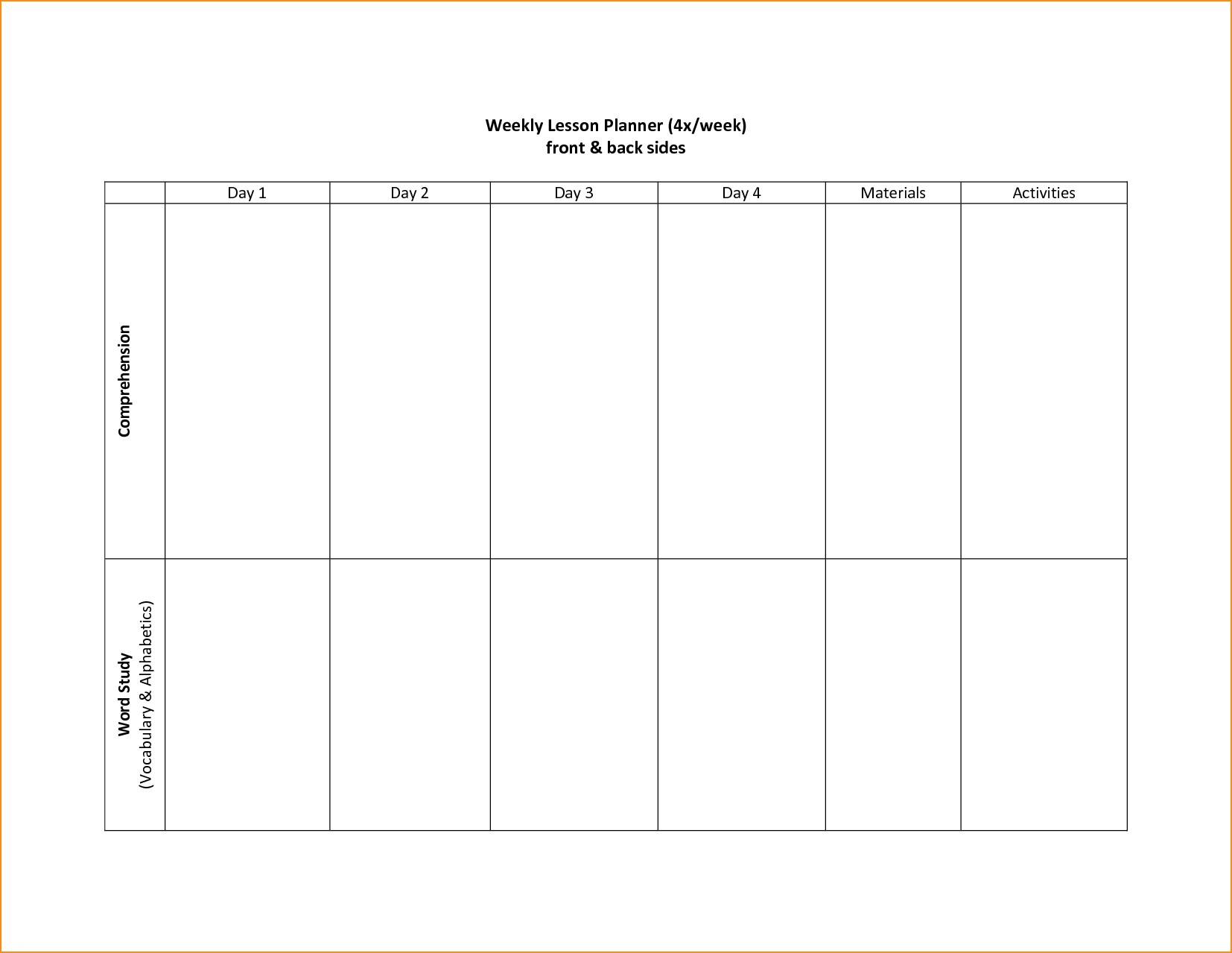 Schedule Template Week Blank Calendar Printable Free | Smorad for 2 Week Calendar Printable Free