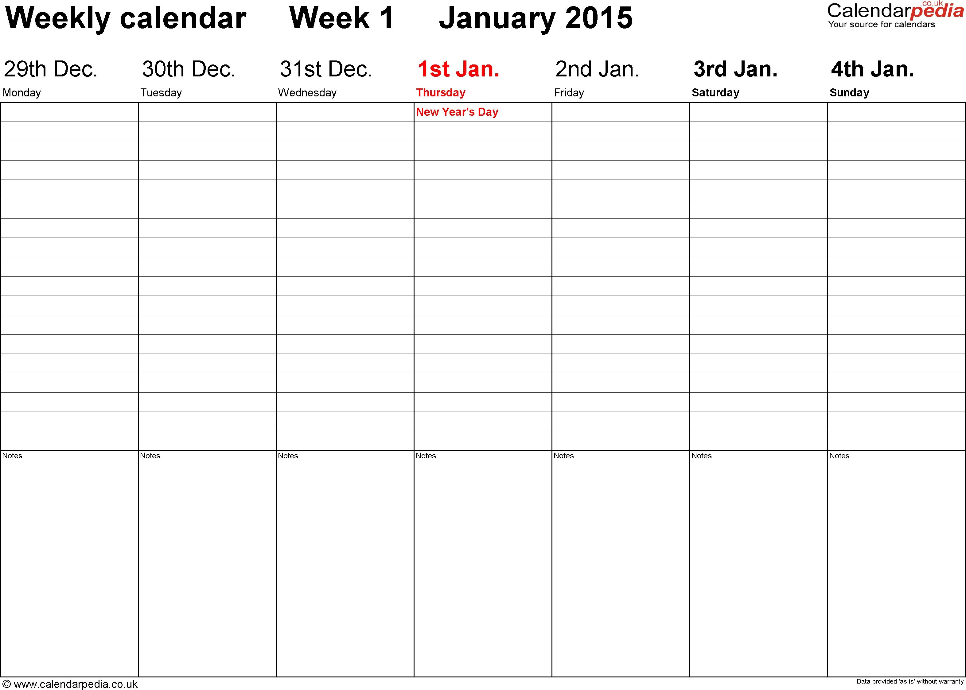 Schedule Template Week Blank Calendar Printable Free | Smorad with regard to Free 2 Week Blank Printable Calendar