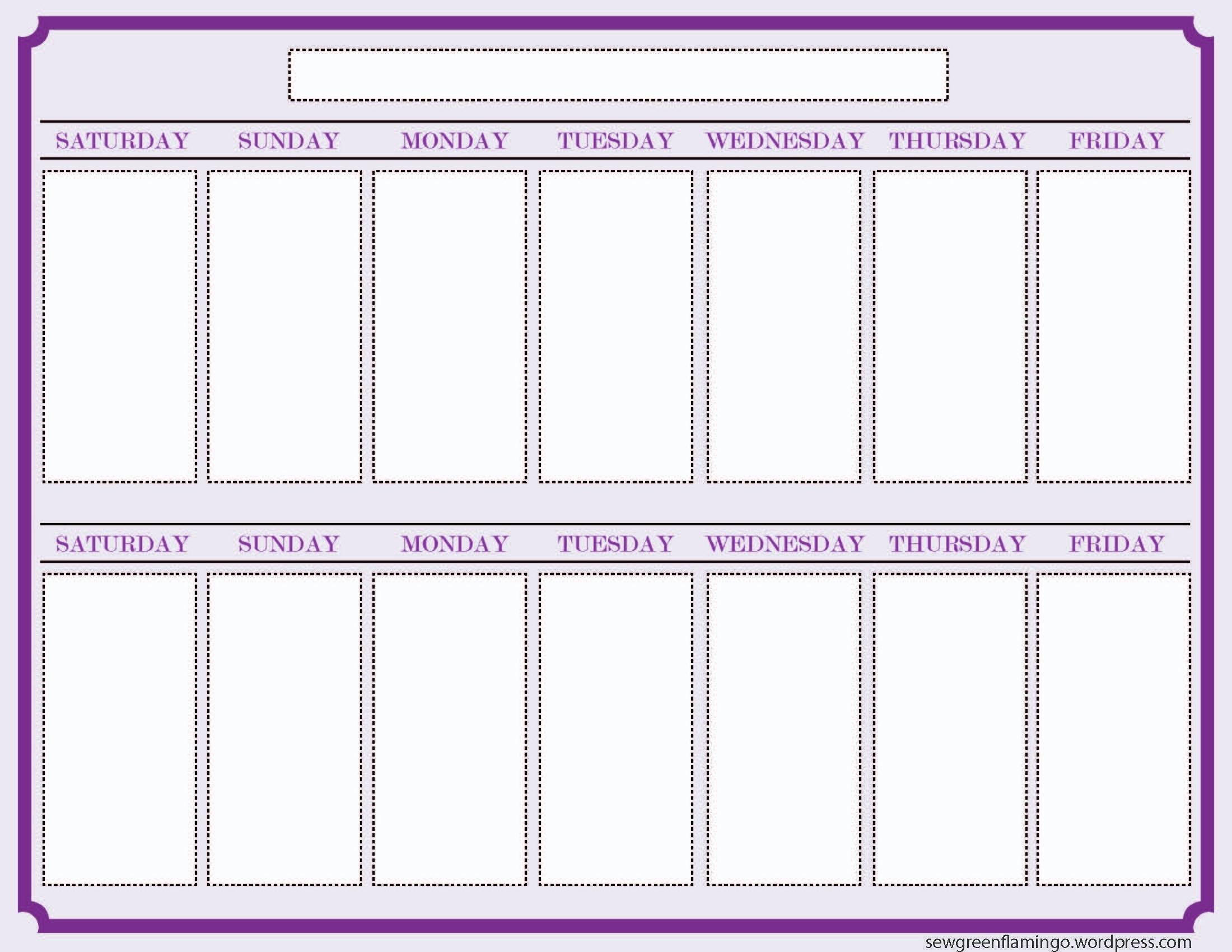 Schedule Template Week Calendar D Microsoft Stirring Two Ulyssesroom with Week 2 Weekly Calendar Printable