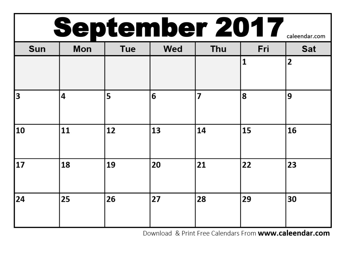 September 2017 Printable Calendar Pdf | Hauck Mansion regarding Print Calendar Month Of September