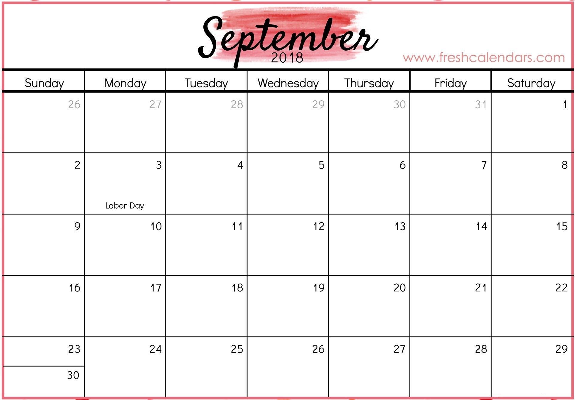 September 2018 Calendar Printable - Fresh Calendars with Print Out Of September Calendar