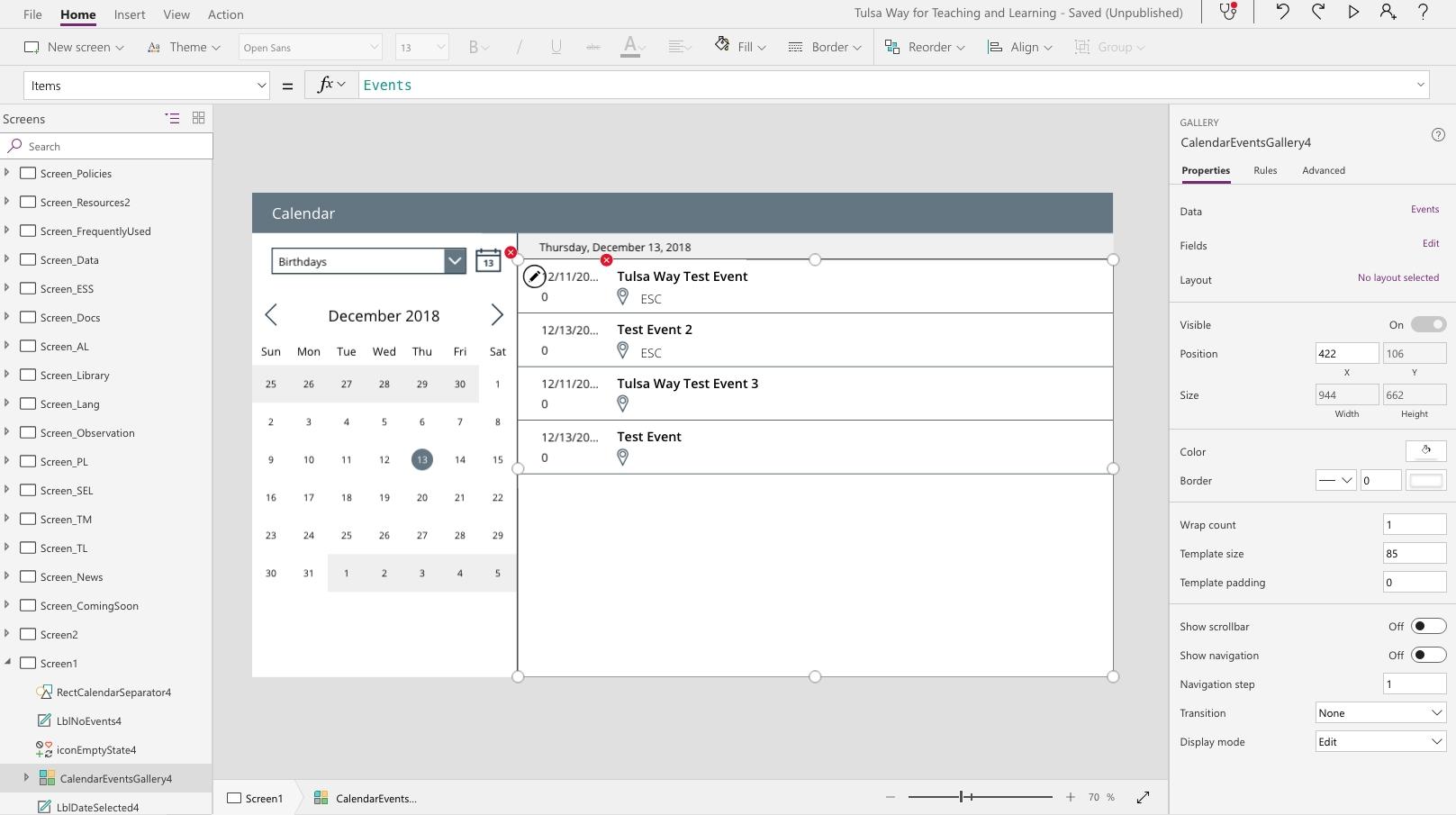 Sharepoint Calendar W/ Powerapps Calendar Template - Power Platform inside How To Display Image Of Sharepoint Calendar