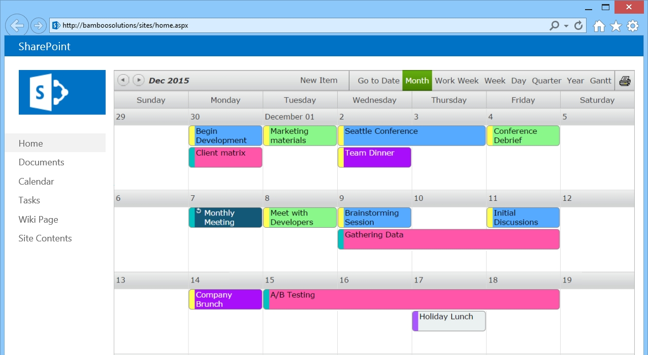 Sharepoint Calendar Web Part - Bamboo Solutions with regard to How To Display Image Of Sharepoint Calendar