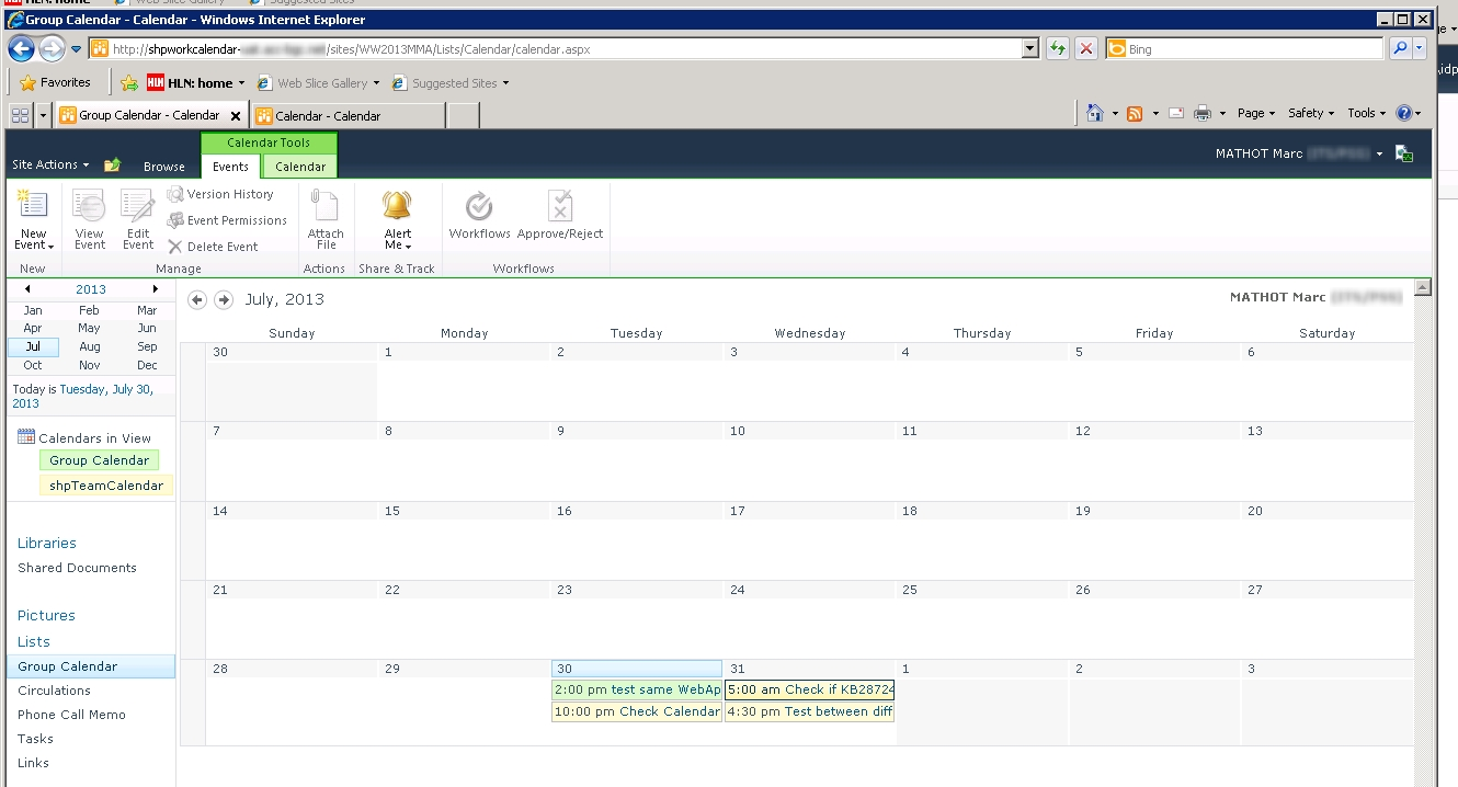 Sharepoint For Dummies: Error 404 With Calendar Overlay Across 2 Web for Sharepoint 2013 Calendar Overlay Issues