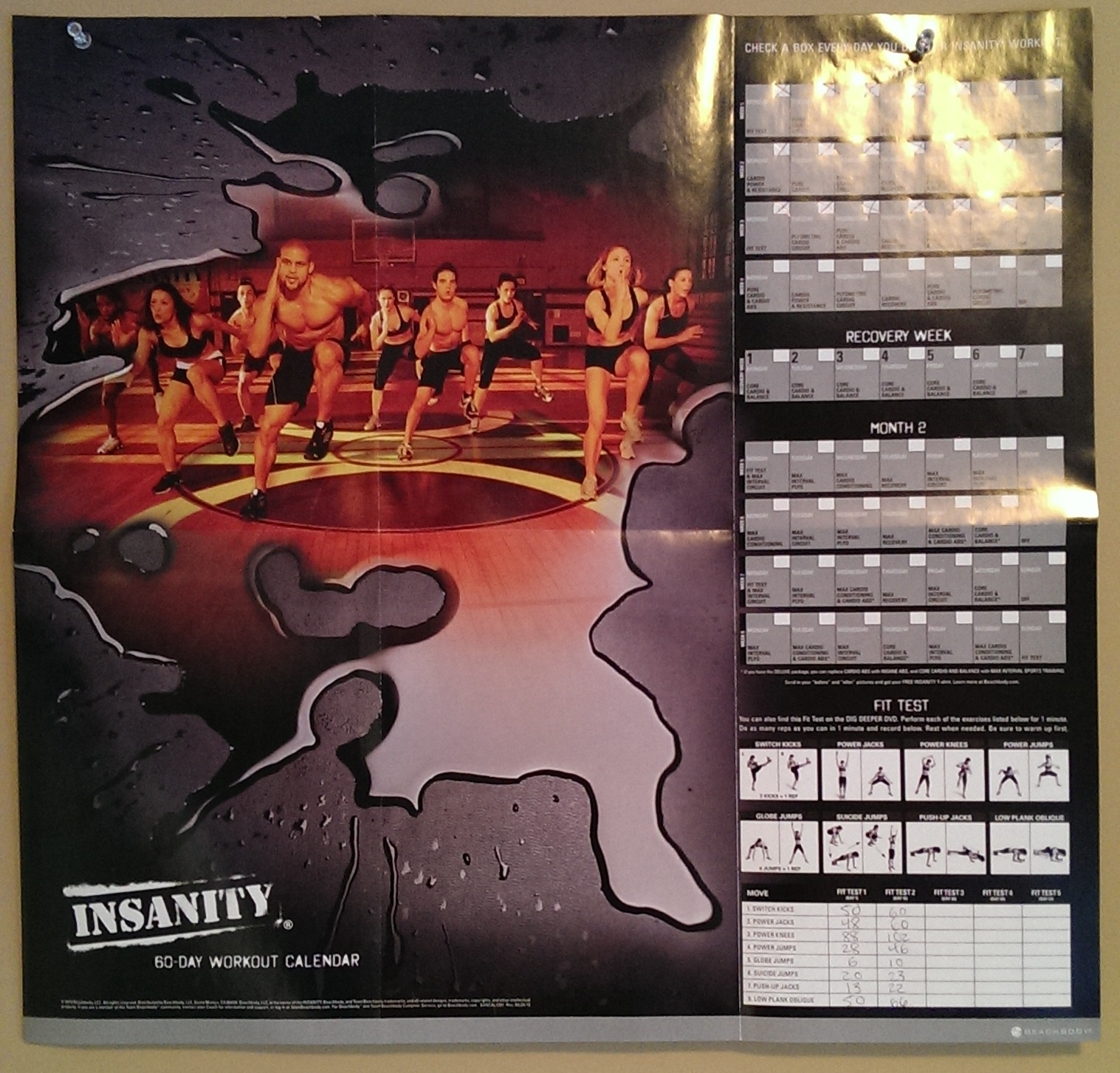 Shaun T | Progress Is Perfection with The Insanity 60 Day Wall Calendar