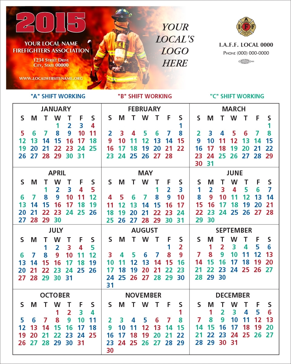 Shift Calendars — Firefighters Print & Design within 48 Hours Fire Shift Schedule