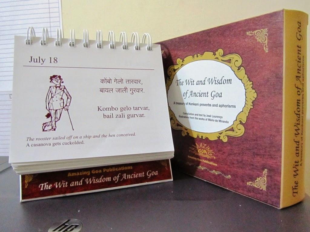 Short Stories & Poemsjosé Lourenço: Konkani Proverb Desk Calendar with Short Poem O Calender Images