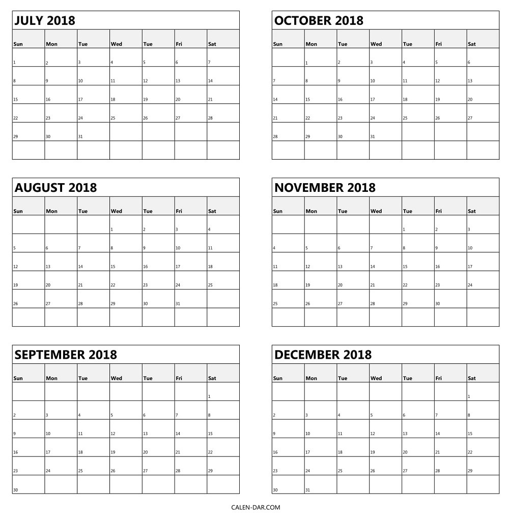 Six Month Calendar Template | Printable Calendar Templates 2019 regarding Free Printable 6 Month Calendar