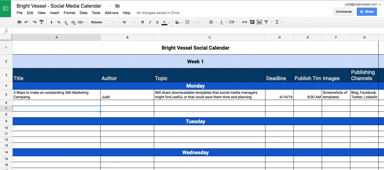 Social Media Content Calendar Examples & Templates Free Download with regard to Social Media Content Calendar Examples