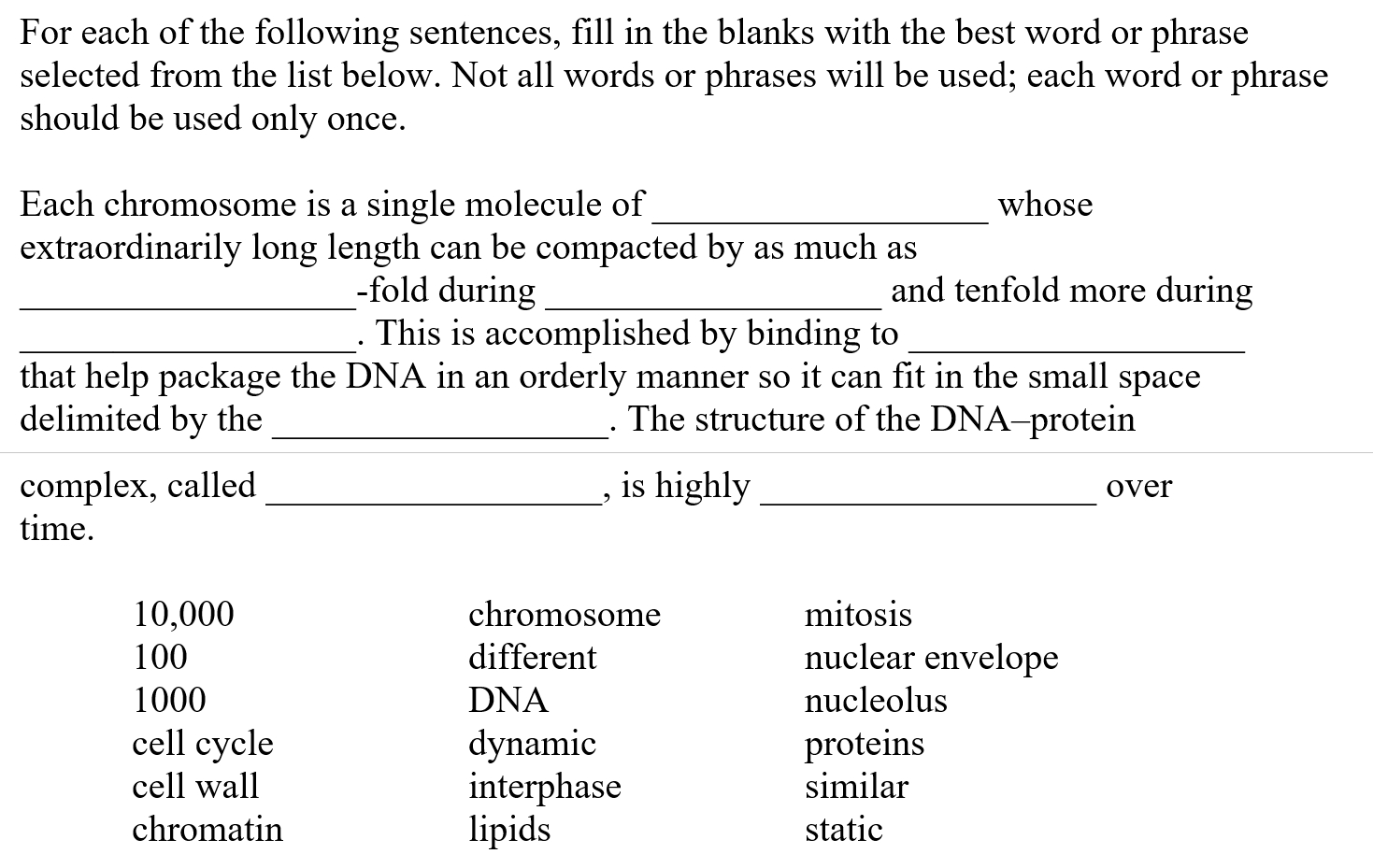 Solved: For Each Of The Following Sentences, Fill In The B with Fill In The Blank Long A