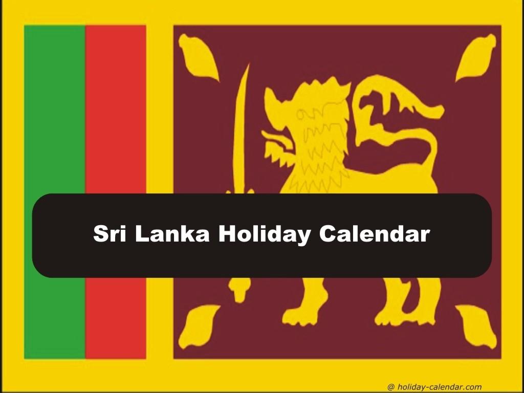 Sri Lanka 2019 / 2020 Holiday Calendar within Sri Lanka Festival Ramadan Calendar