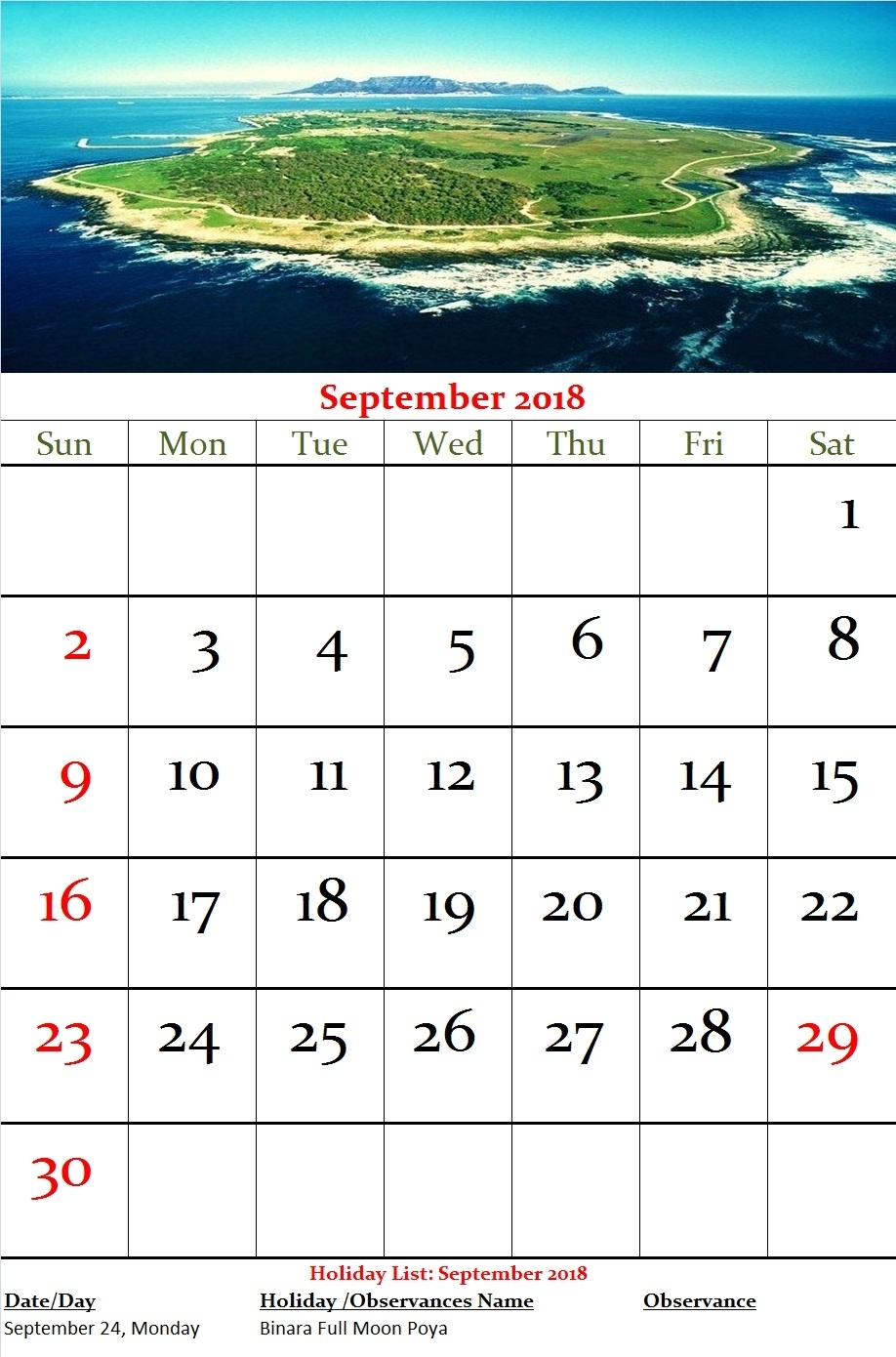 Sri Lanka Monthly Calendar September 2018 | 2017Mobilecalendars regarding Sri Lanka Calendar Of September With Holidays