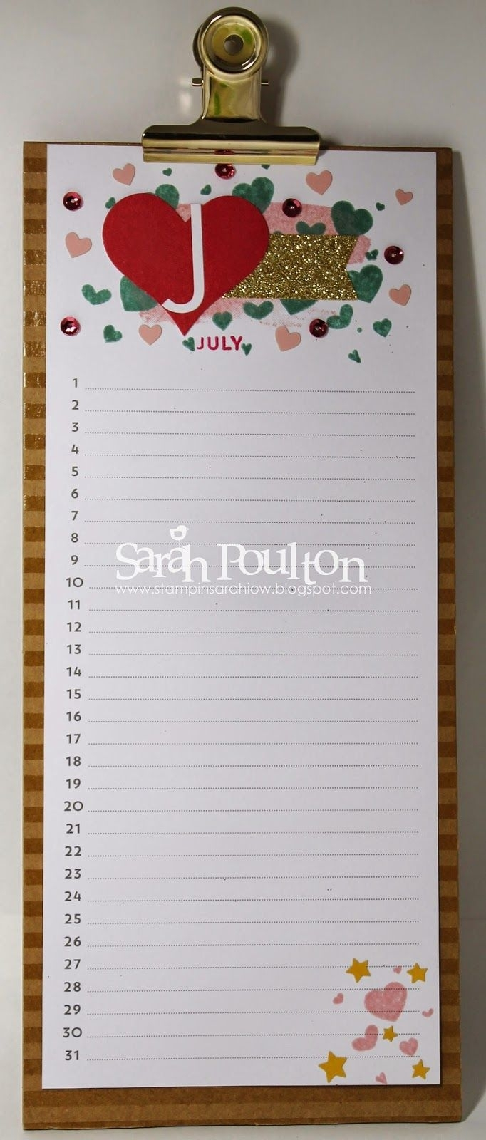 Stampin' Sarah!: Perpetual Birthday Calendar Kit Part 2 Created with Summer Picture For Birthday Calendars