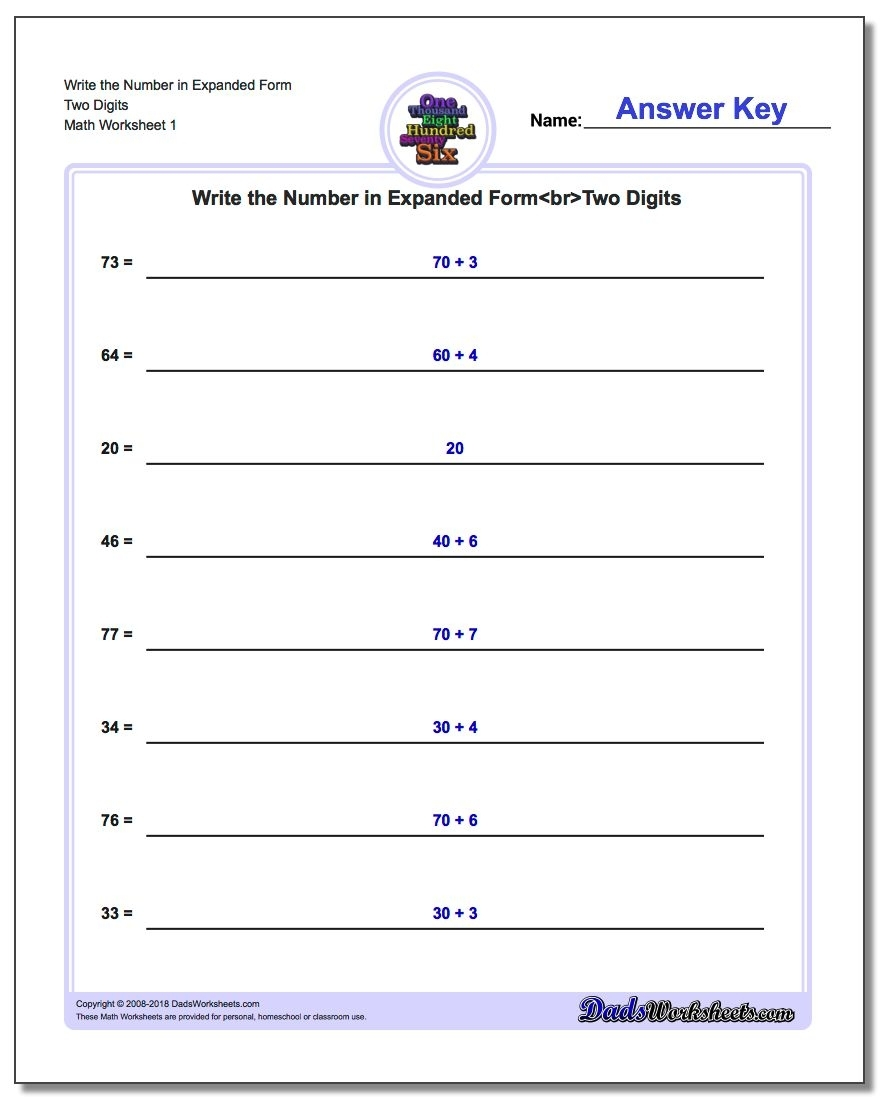 Standard, Expanded And Word Form throughout 1St Grade Homework Chart Templates