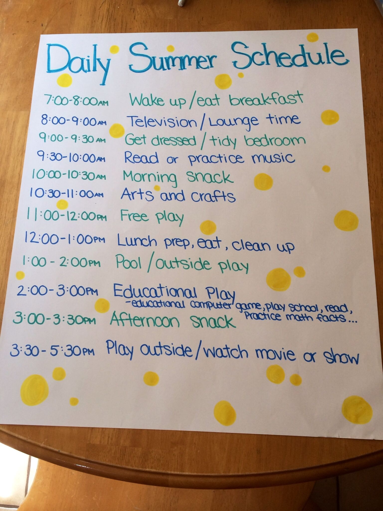 Stay Organized With A Daily Summer Schedule For Kids! | Kid within Daily Summer Activities For Preschoolers