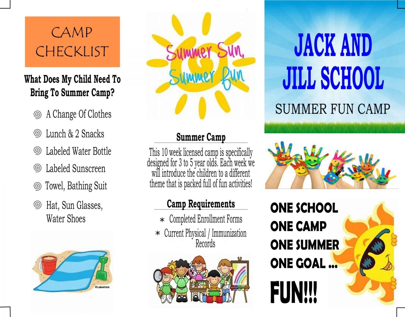 Summer Fun Camp » Jack And Jill School for Daily Summer Activities For Preschoolers