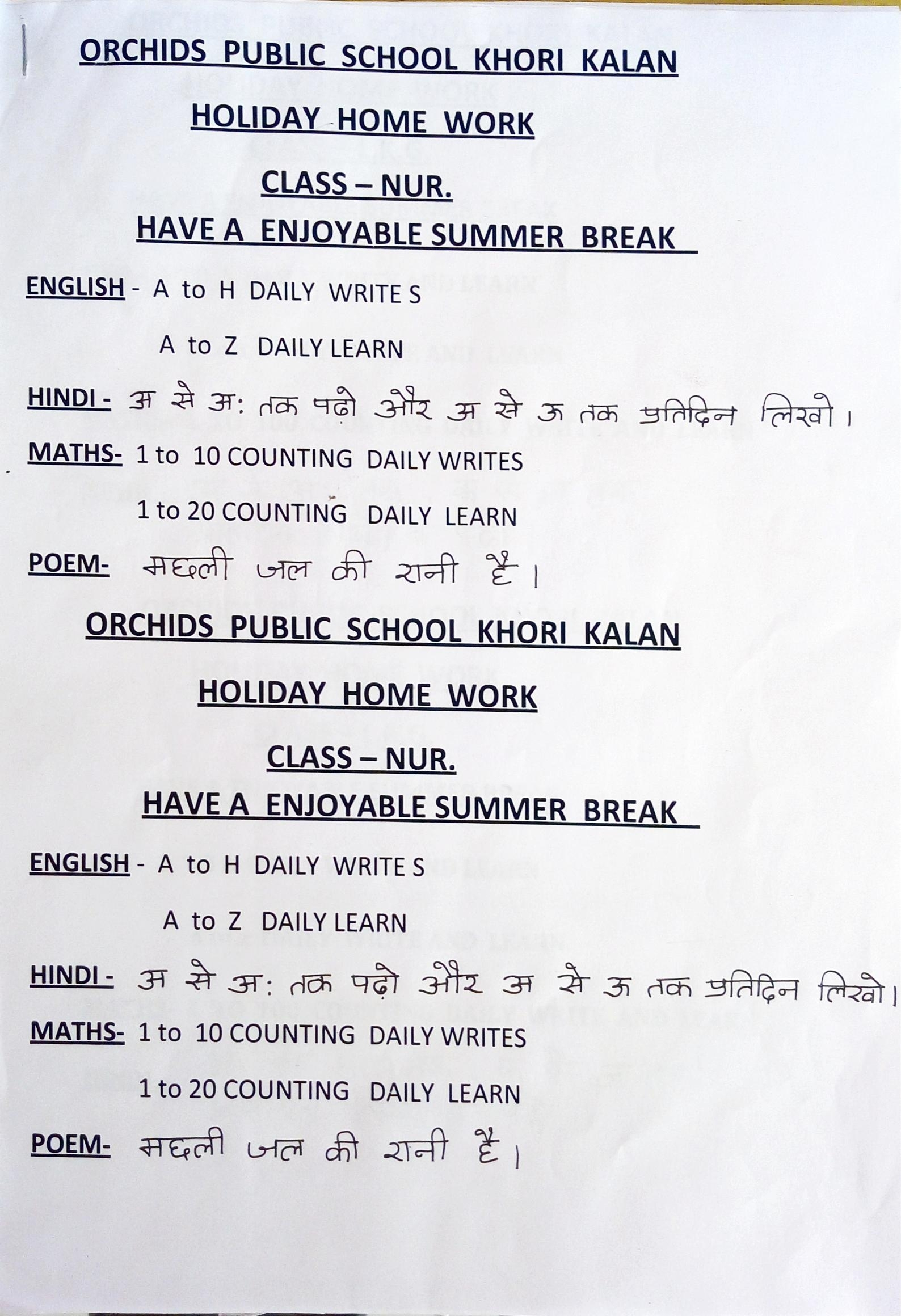 Summer Holiday Homework Help Descriptive Essay Help pertaining to Holiday Hw For Grade 1