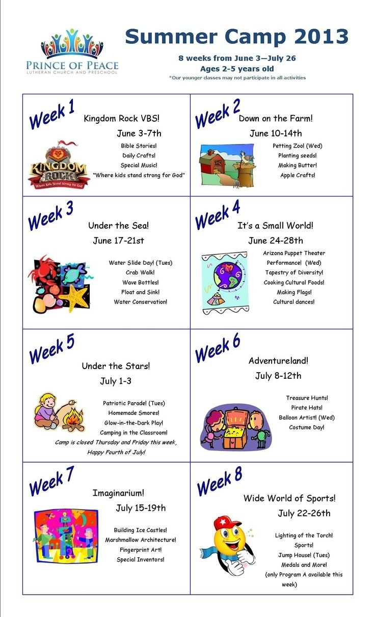 Summer Programs For Church Theme Ideas - Google Search | Summer regarding Daily Summer Activities For Preschoolers
