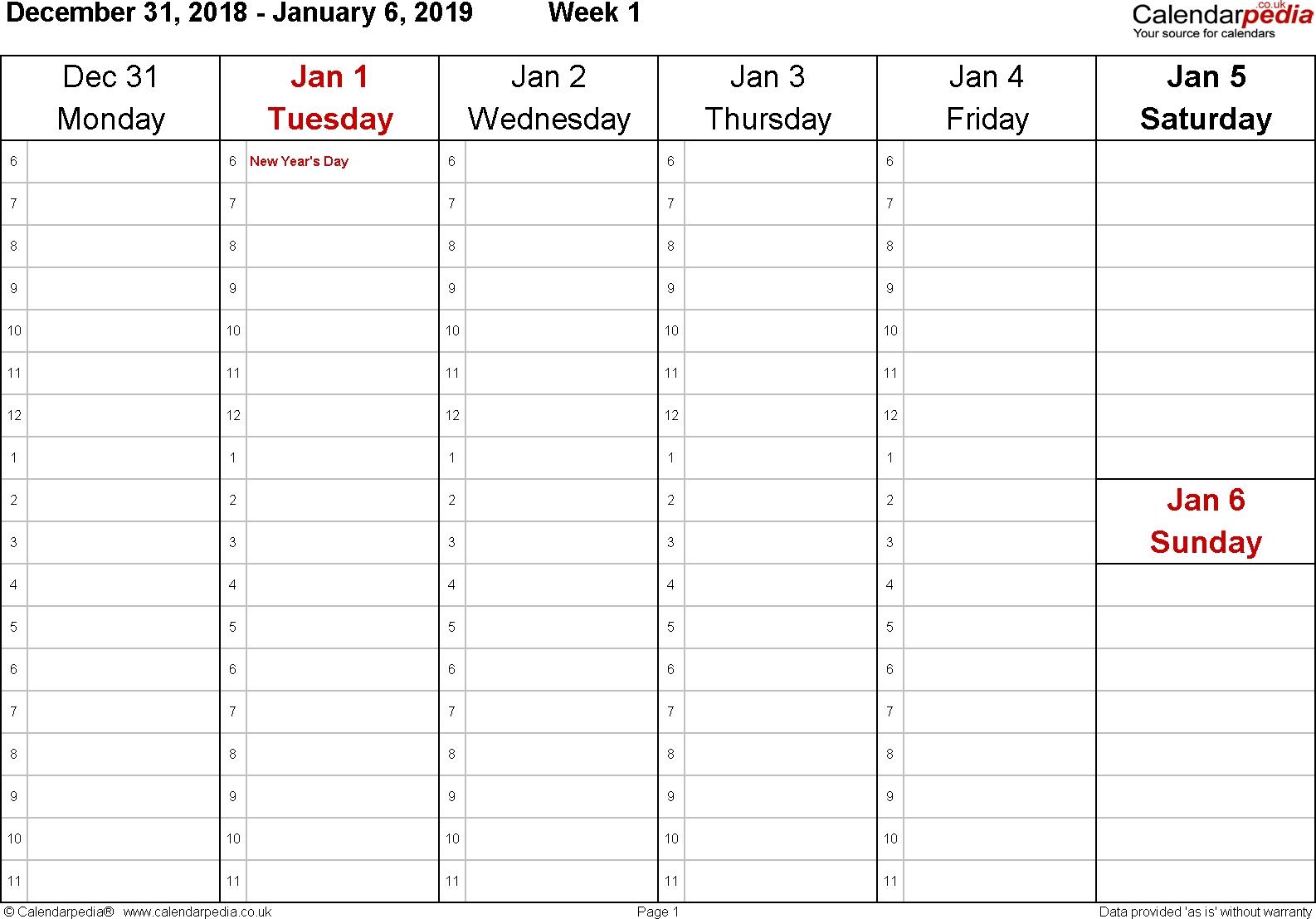Sunday Through Saturday Calendar - Maco.palmex.co in Friday Saturday Sunday Calendar Template