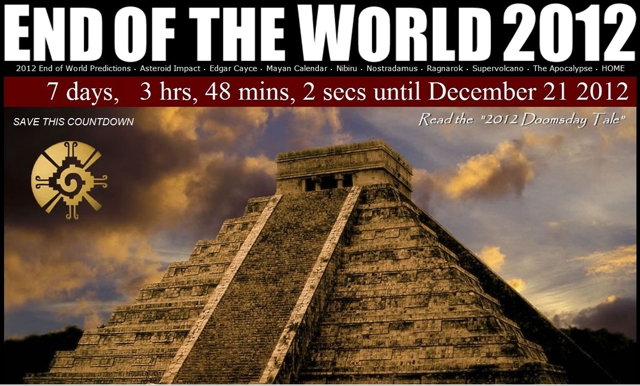 Supernova125: Mayan Calendar End Of The World 2012 (21/12/12) throughout The End Of The Mayan Calendar