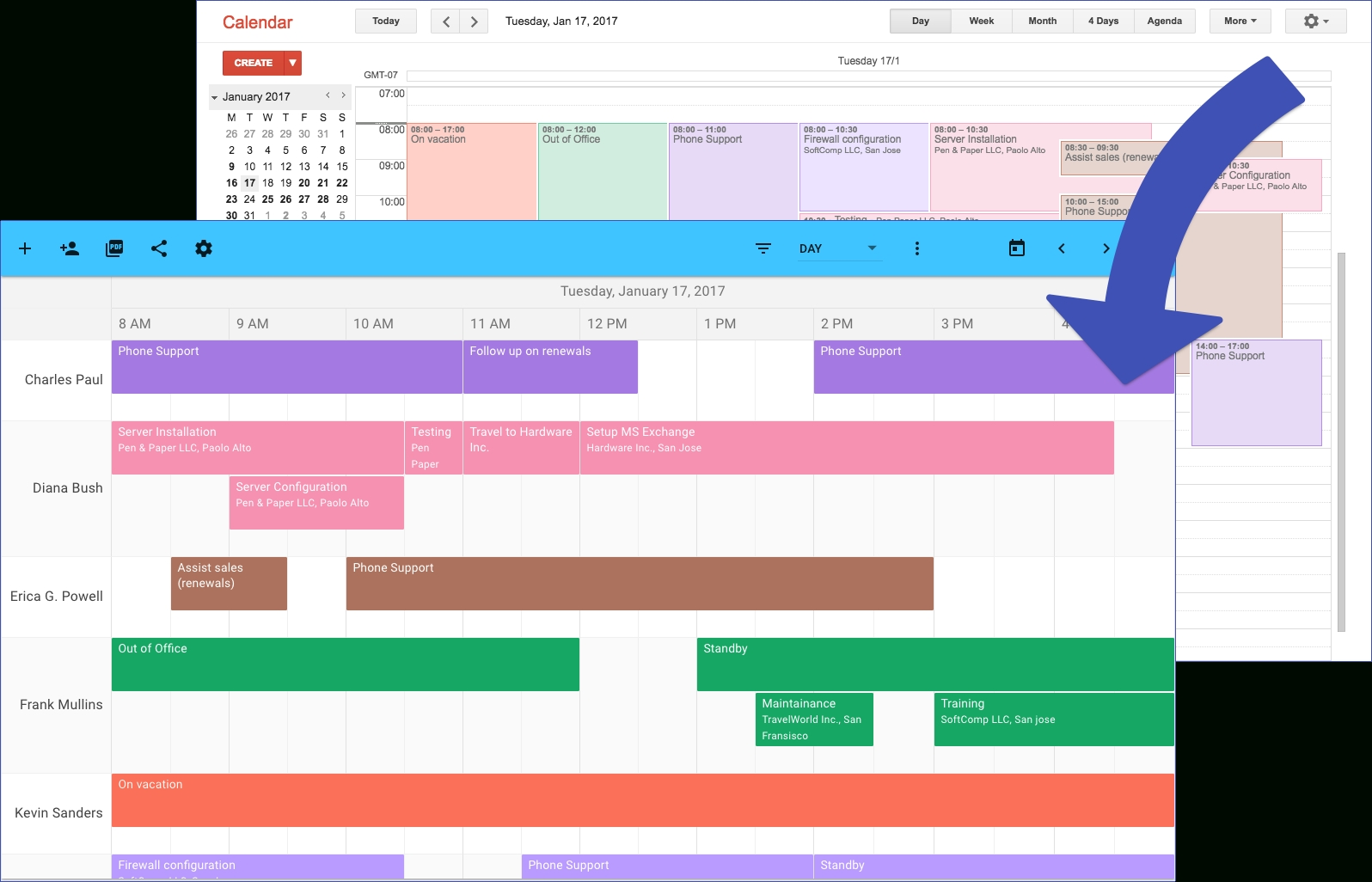 Teamcal – Google Calendar's Missing Schedule View pertaining to Year At A Glance Calendar - Vacation Schedule For Staff