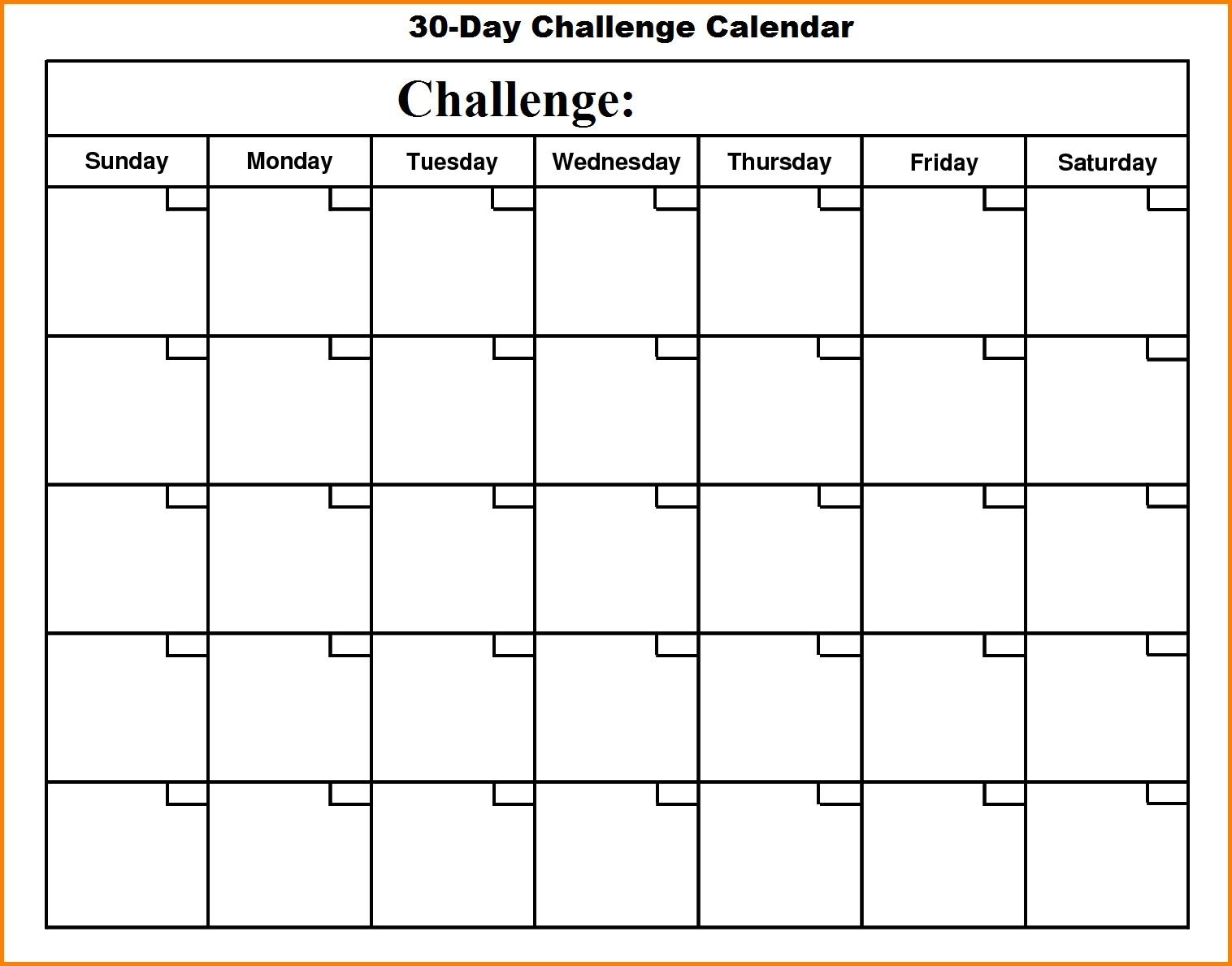 Template Design. 30 Day Calendar Template - Collection Of Template intended for Blank 30 Day Calendar Template