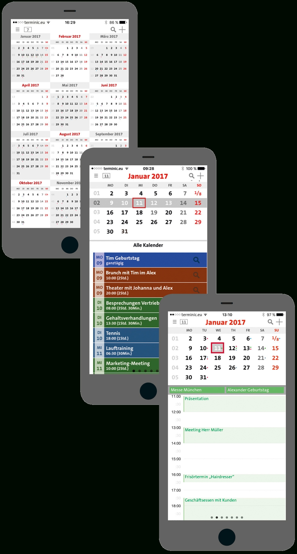 Terminic 3-Month-Calendar-App For Ios And Android - Download with Download A 3 Month Calendar