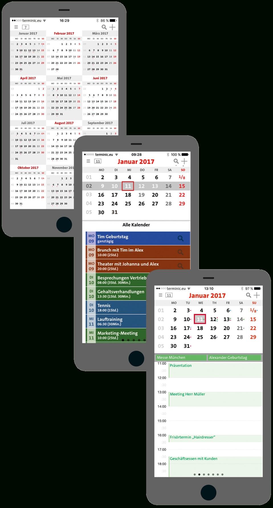 Terminic 3-Month-Calendar-App For Ios And Android - Download with Download A 3 Month Calendar
