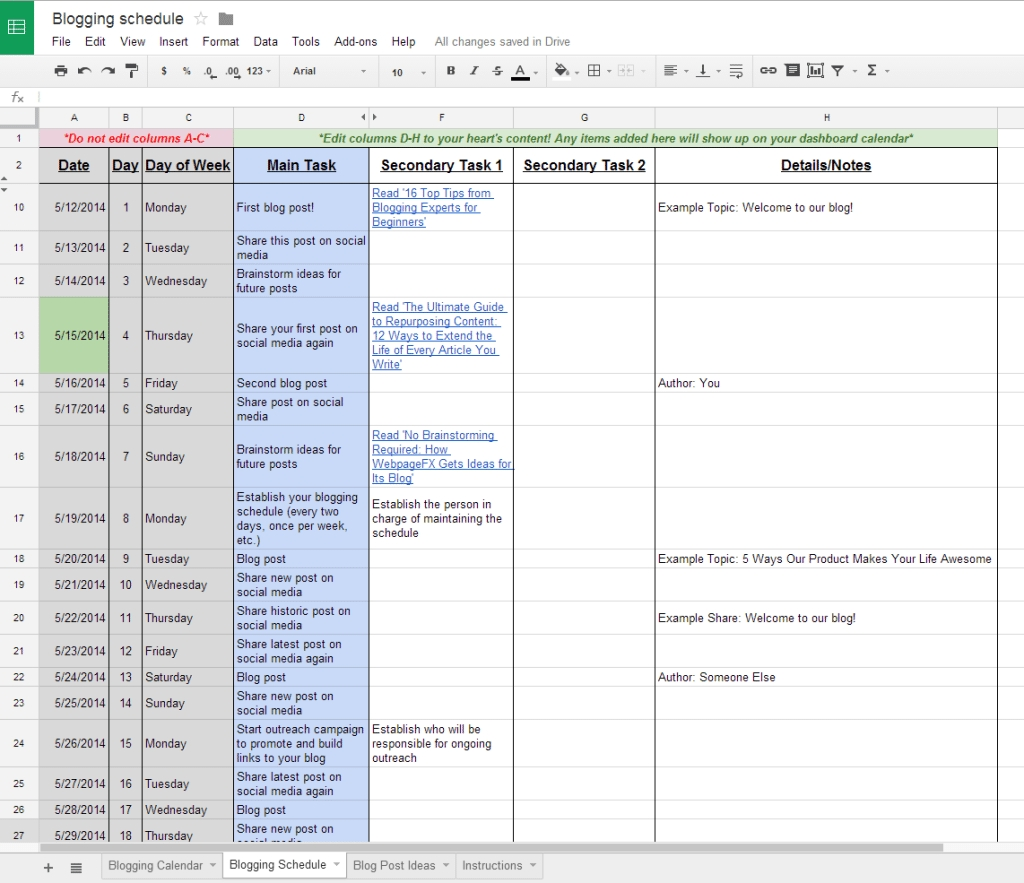 The Complete Guide To Choosing A Content Calendar within Social Media Content Weekly Schedule