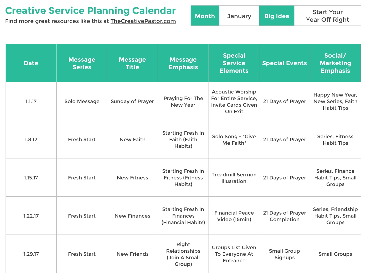 The Essential Planning Calendar Your Church Needs To Be Creative All in Church Calendar Of Events Template
