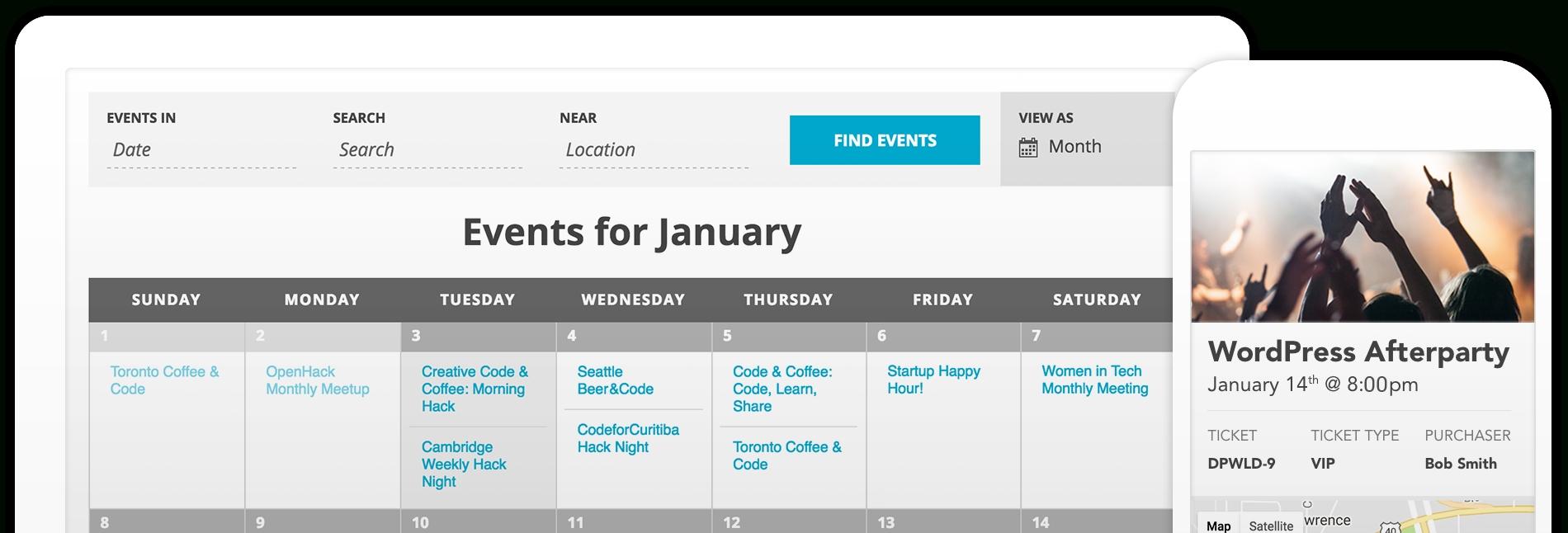 The Events Calendar throughout Set Up An Event Calendar