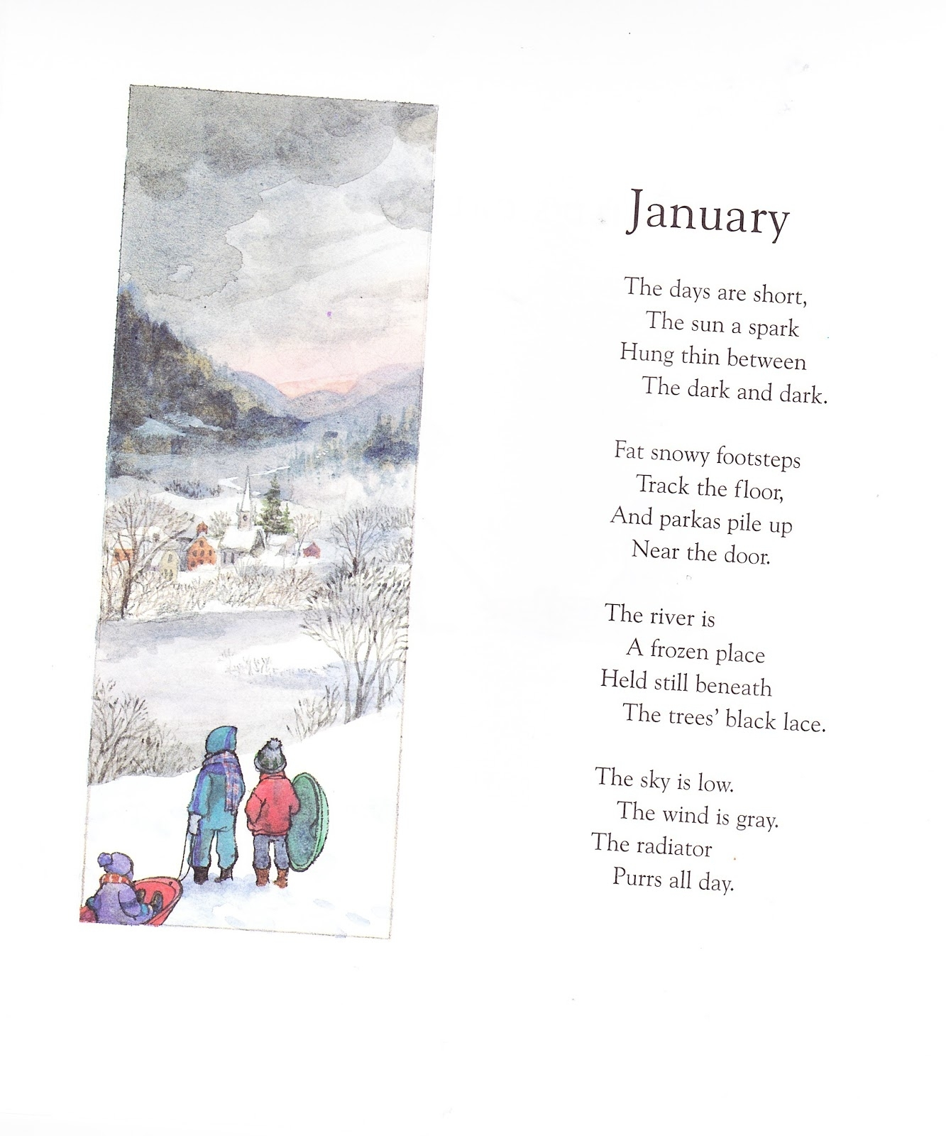 The Marlowe Bookshelf: A Child's Calendar pertaining to Short Poem O Calender Images
