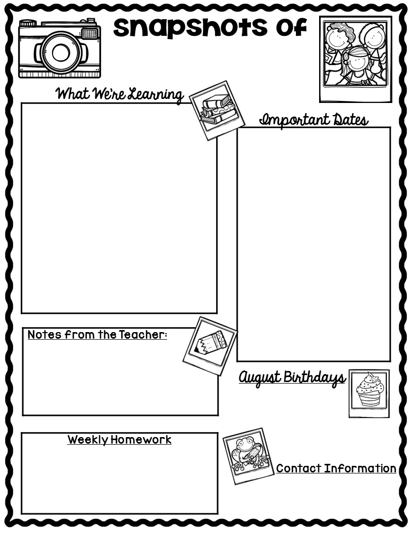 The Teaching Oasis*: Monthly Calendars And Newsletter Templates throughout Template For Monthly Calendar Lesson Plans For Childrens Church