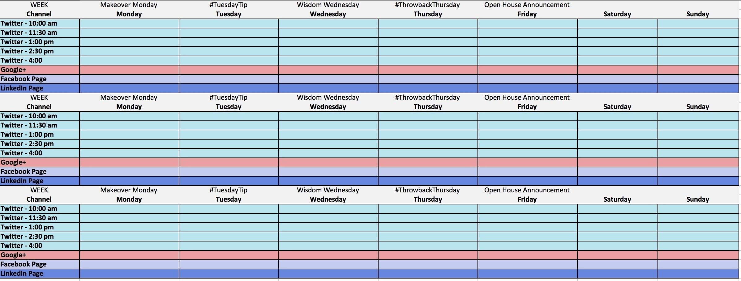 The Ultimate Guide To Creating Your Social Media Calendar within Social Media Content Calendar Examples