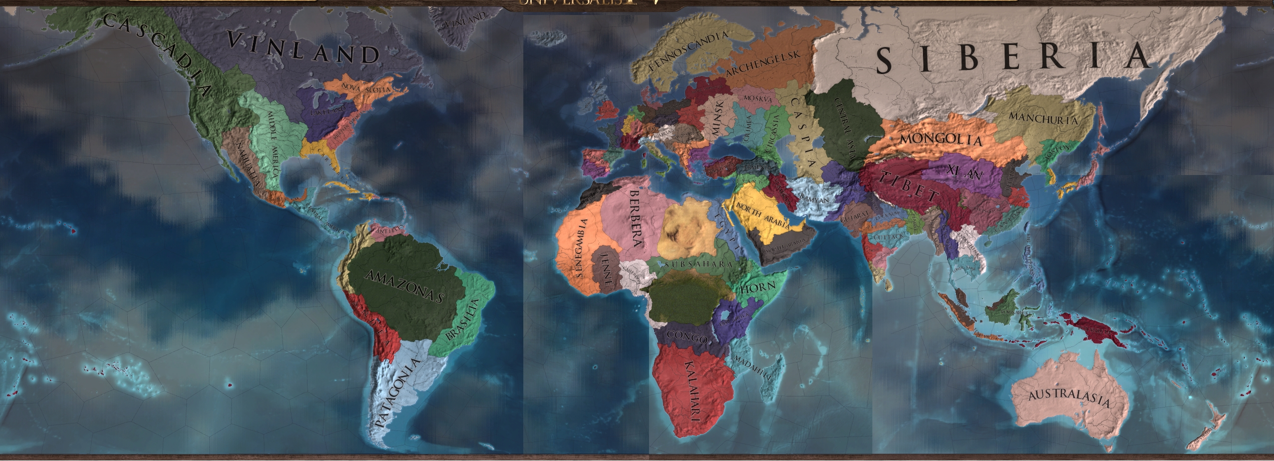 The World In 1444 Divided Into 100 Nations Of (Almost) Equal inside End Of The World Amyan
