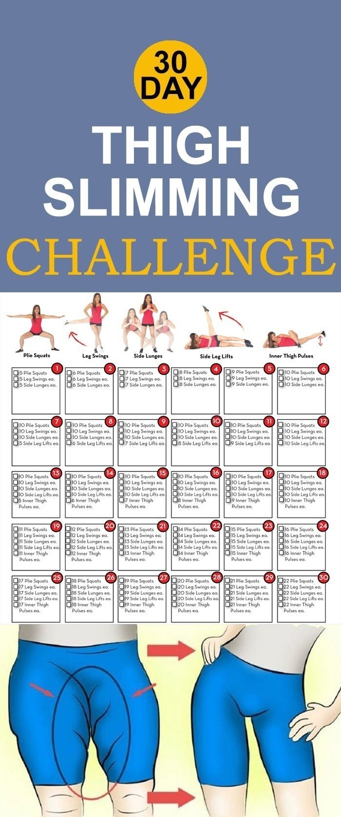 Thigh Slimming | Posted By: Newhowtolosebellyfat | Thigh pertaining to 30 Day Inner Thigh Challenge Calendar