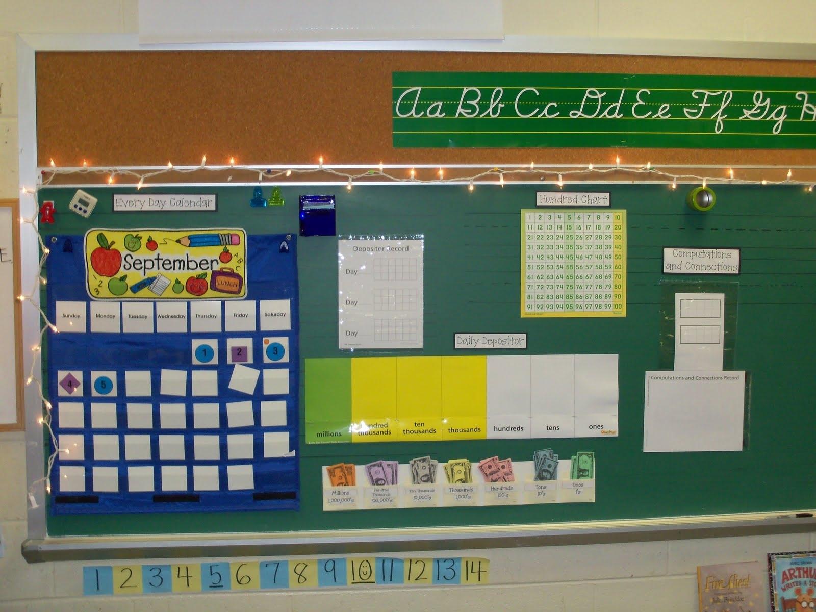 Third Grade Meanderings: Changesand A Random Freebie throughout Fourth Grade Everyday Math Calendar Wall