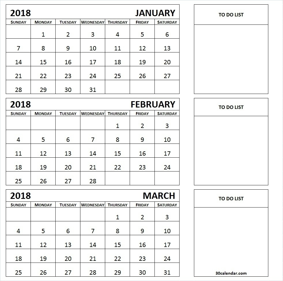 Three Month Printable Calendar 2019 | Printable Calendar 2019 with Download A 3 Month Calendar