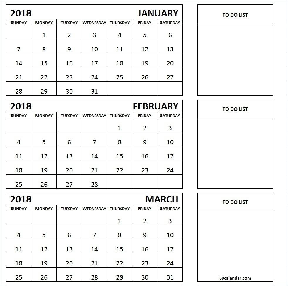 Three Month Printable Calendar 2019 | Printable Calendar 2019 with Download A 3 Month Calendar