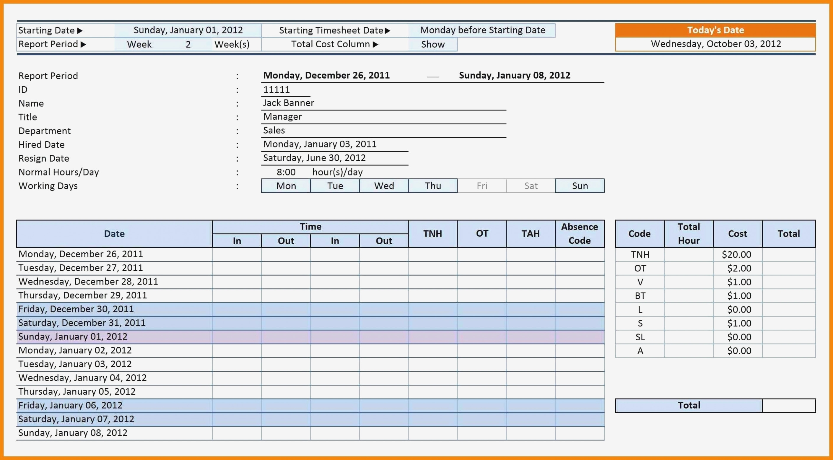 Time Management Sheet Pdf Functional Excel Time Tracking Spreadsheet inside Time Management Monday To Sunday