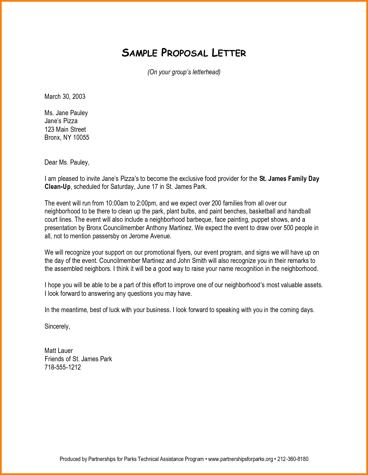 Tips To Write A Business Proposal Letter Like A Pro And Kickass Your with regard to Letter For Food Stamps Sample