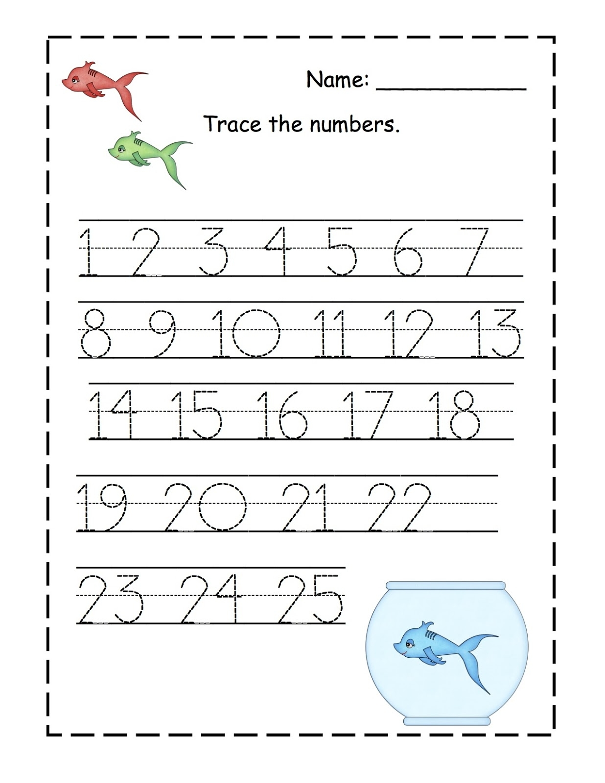 Traceable Numbers 1-10 For Kindergarten Kids. | Kiddo Shelter for Printable Preschool Numbers 1 31