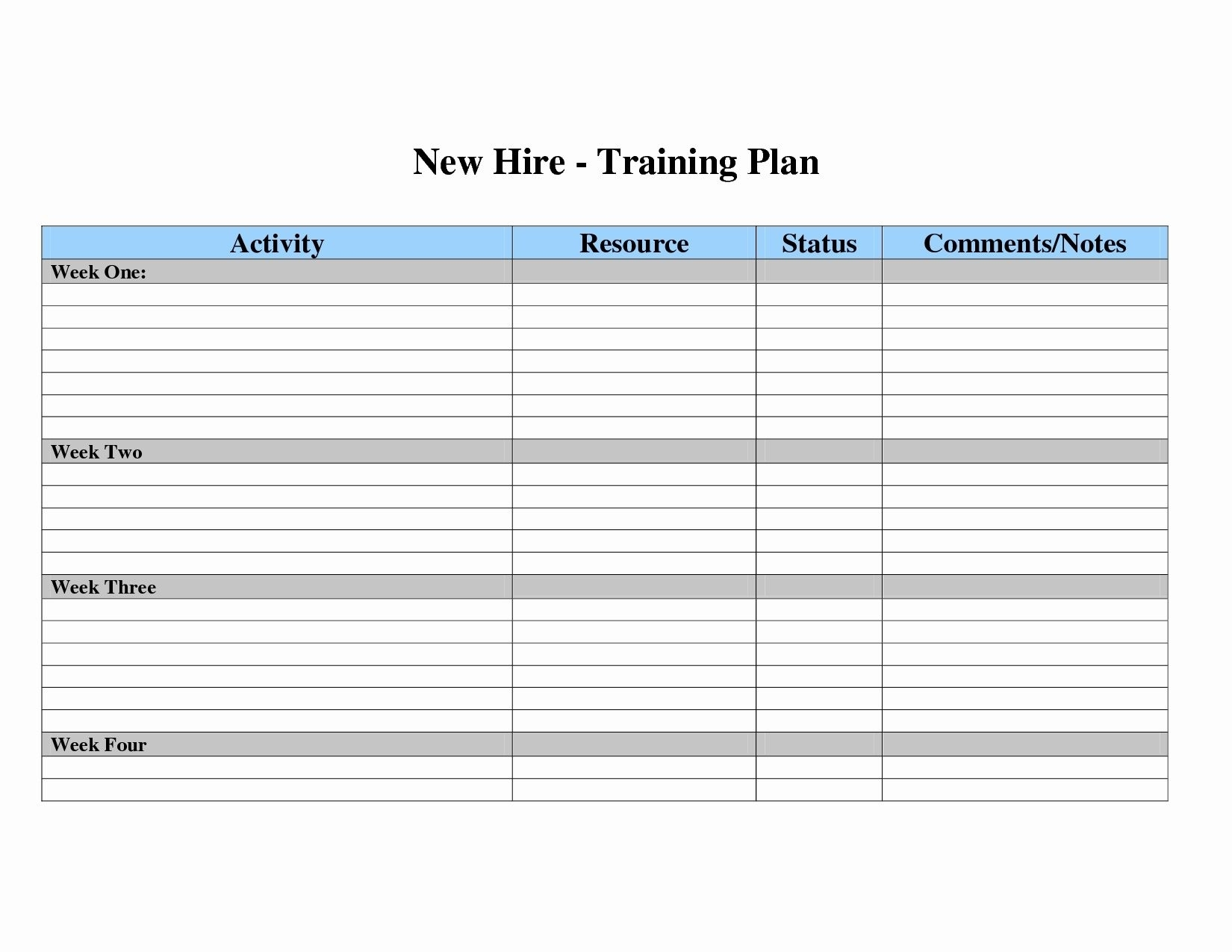 Training Schedule Format Excel Calendar Sample In Yearly Template intended for Free Printable Blank Training Plan Year