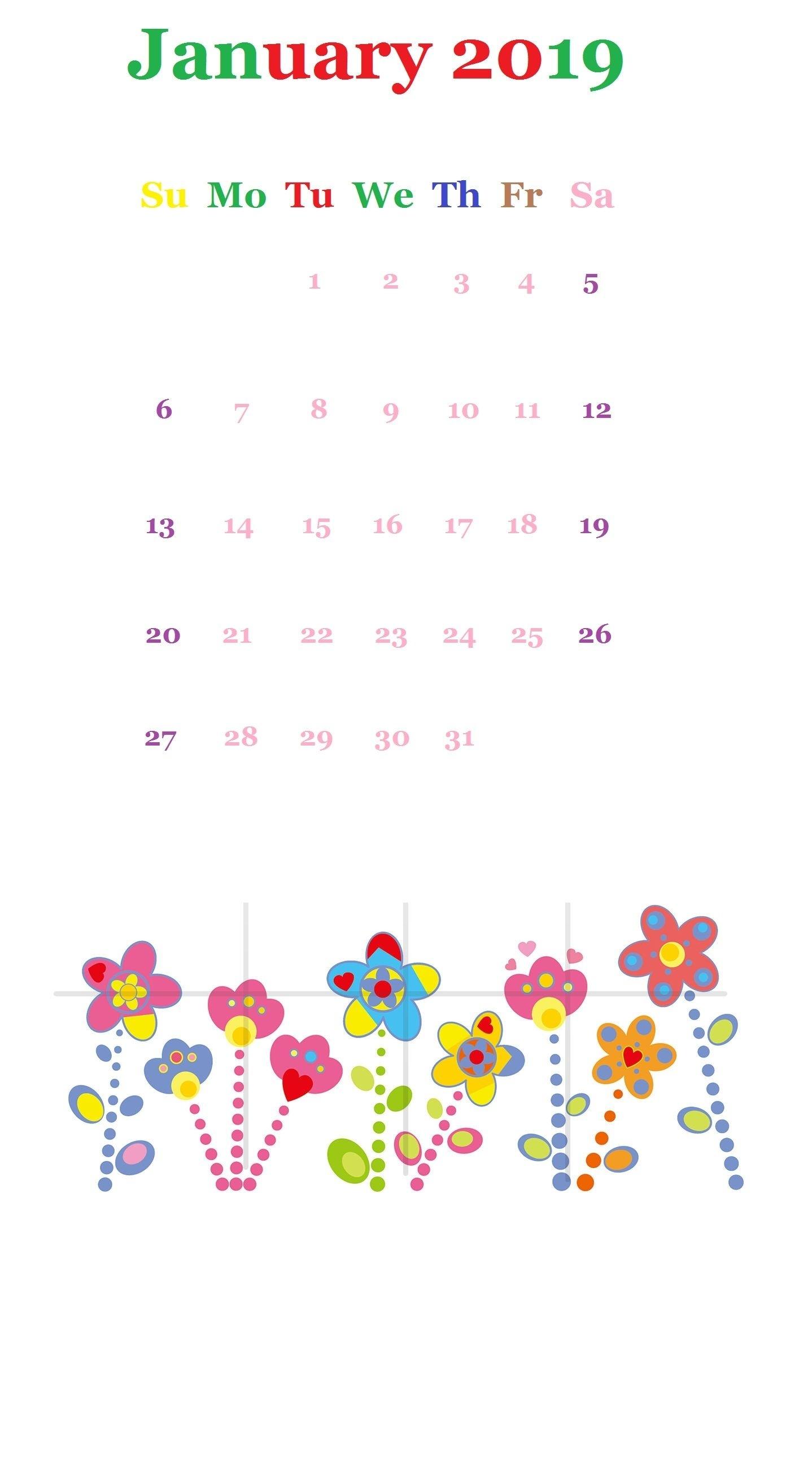 Tumbler January 2019 Iphone Calendar | Calendar Designs In 2019 inside Calendars For January Background Designs